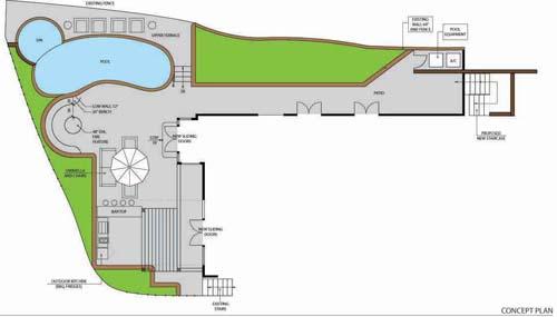 Yellow Pool House - PLAN2