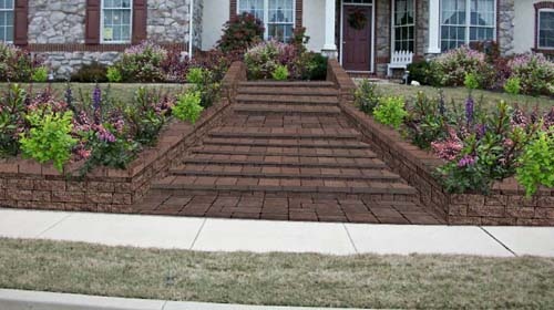 Front Yard Steps - Paver Option