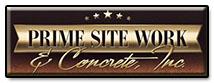 Prime Site Work & Concrete Logo