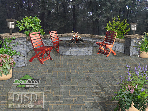 Fire Pit Patio Wall