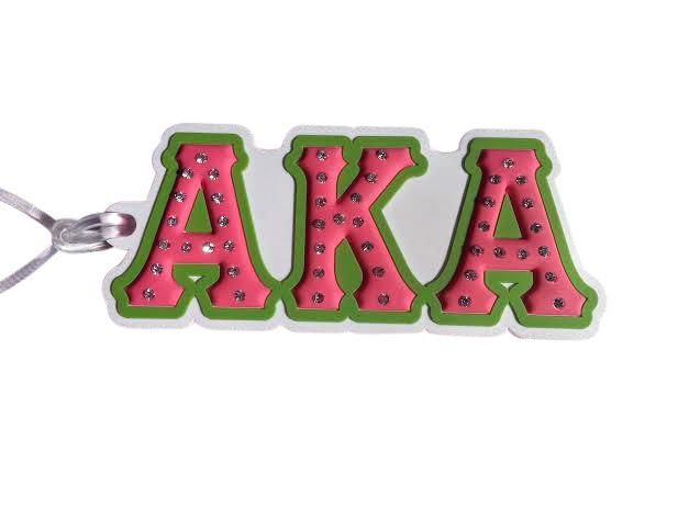 Alpha Kappa Alpha Letters Bag Tag