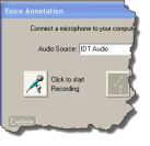 Voice Annotation Screen