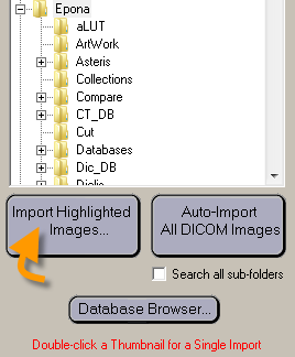 Import Highlighted Images