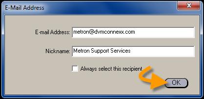 Email Enter Addresses
