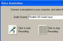 Voice Annotation Box
