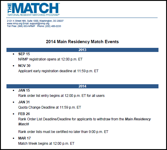 NRMP Post-Match Press Release |
