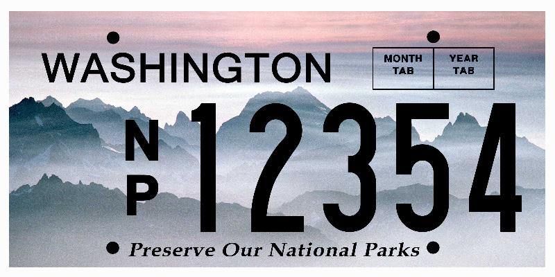 National Park Plate