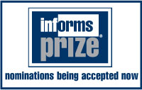 Nominations being accepted for INFORMS Prize