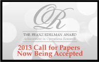 Apply now for the 2013 Edelman Prize