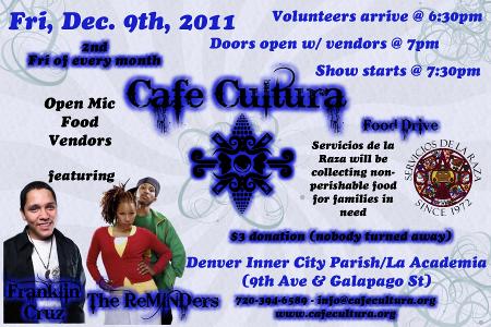 Cafe Cultura Dec. 9