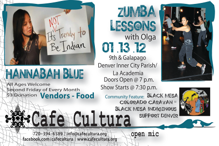 Jan. 13 Cafe Cultura