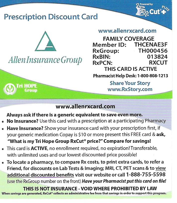Allen RX Card