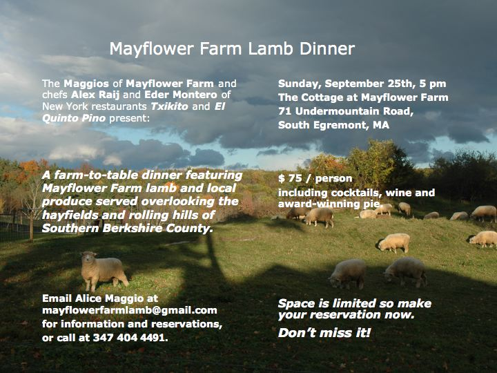 Mayflower Farm Lamb dinner