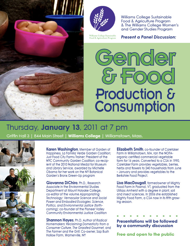 Gender and food event at Williams