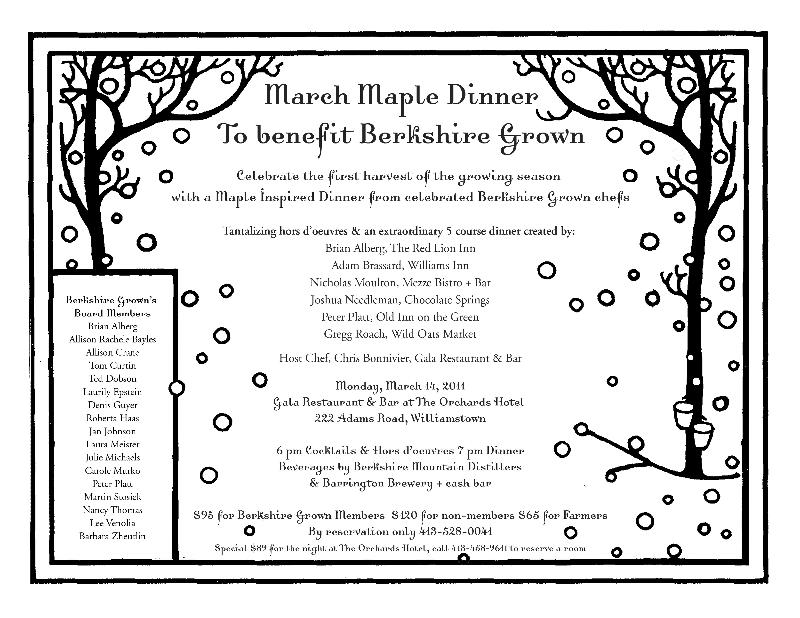 Maple Dinner Invite 2011
