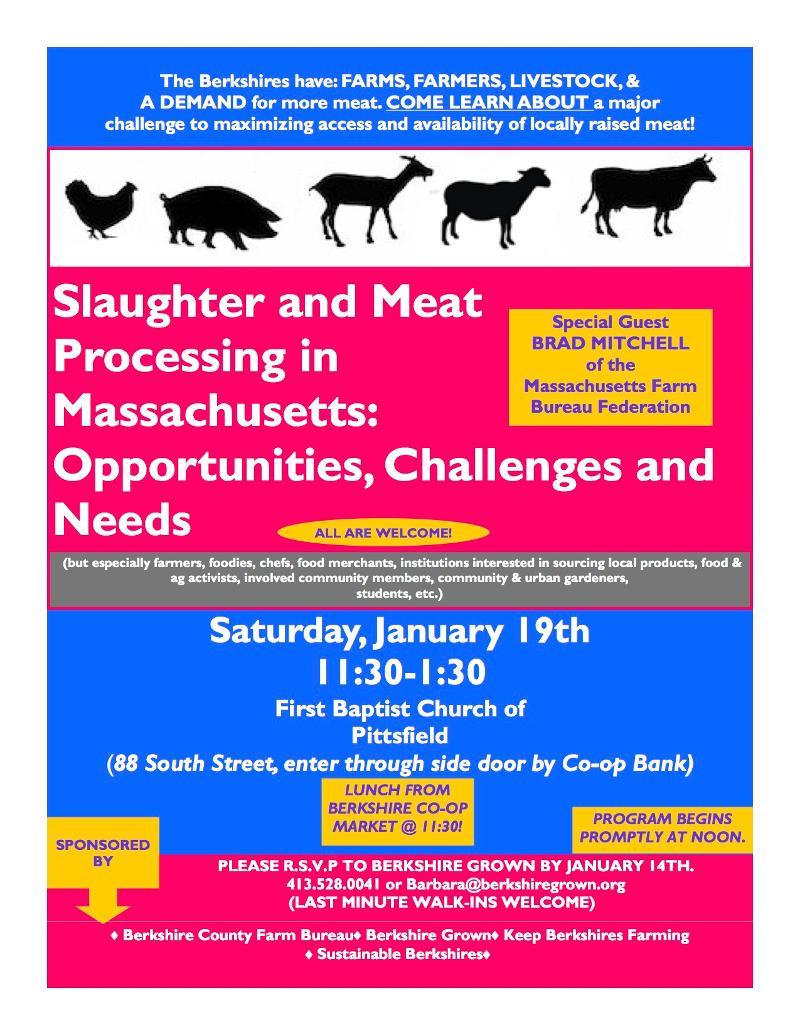 Meat processing Jan. 19. 2013