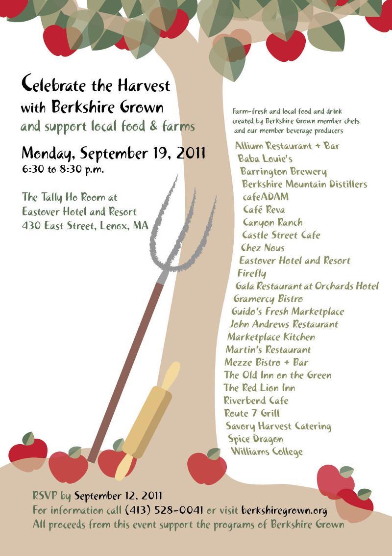 Harvest Supper invite 2011