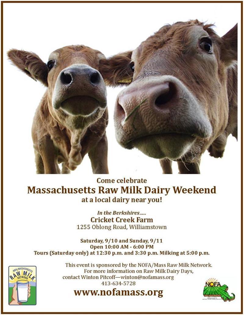 cricket creek raw milk dairy day