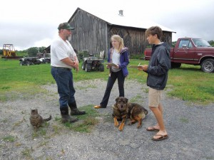 Wms students, Oleson farmer