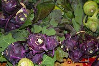 purple and green veggies