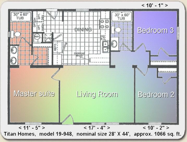 2 bedroom 2 bath mobile home