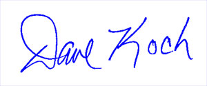 Dave Koch signature