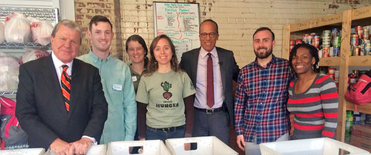 IFFS Durham Staff with WRAL_s David Crabtree and NBC_s Lester Holt