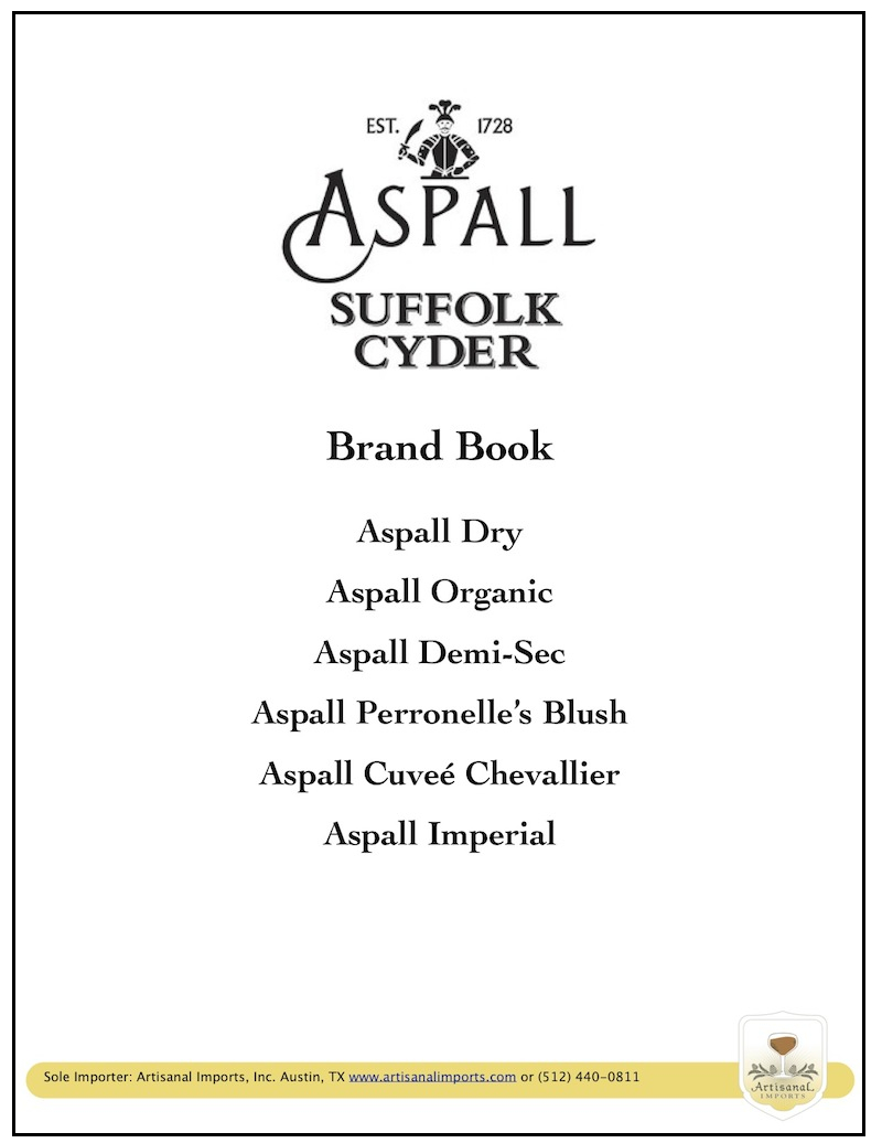 Aspall Brand Book Cover