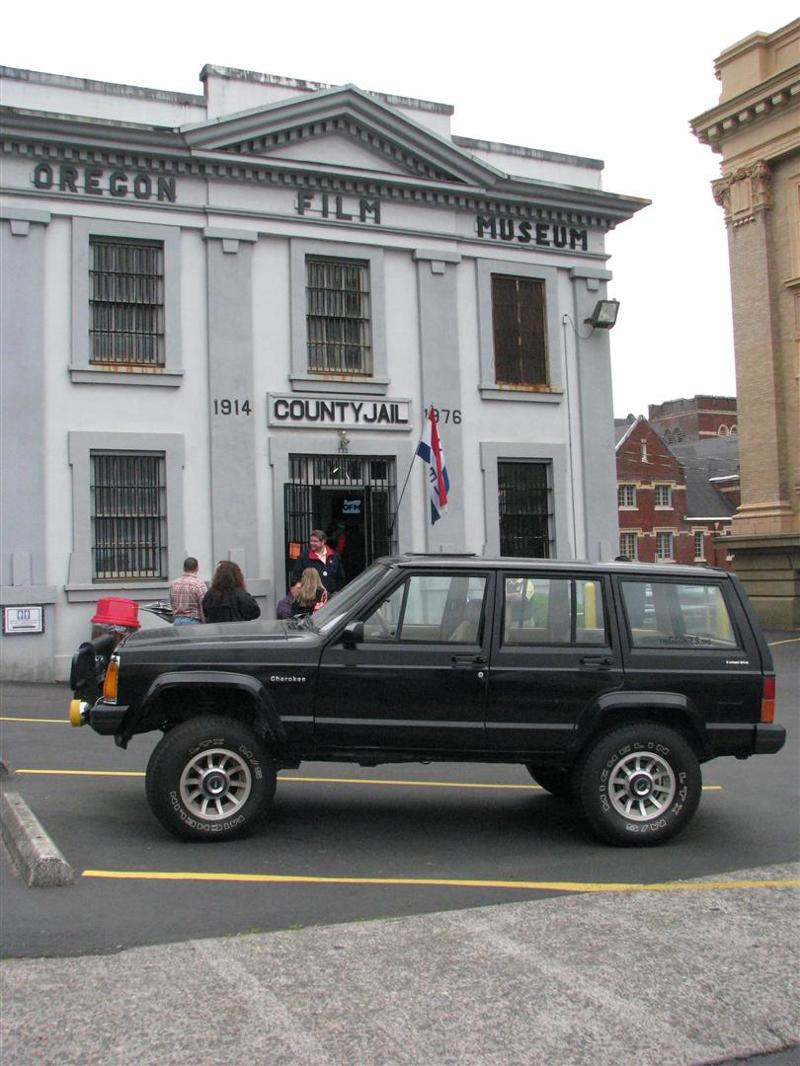 Goonies replica jeep back at the Film Museum.
