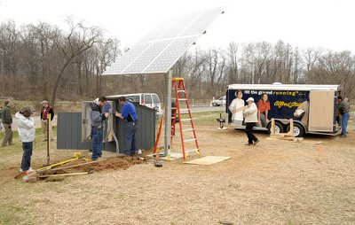 installation of a 1 kW solar (electric) array