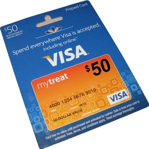 50 Visa Gift Card