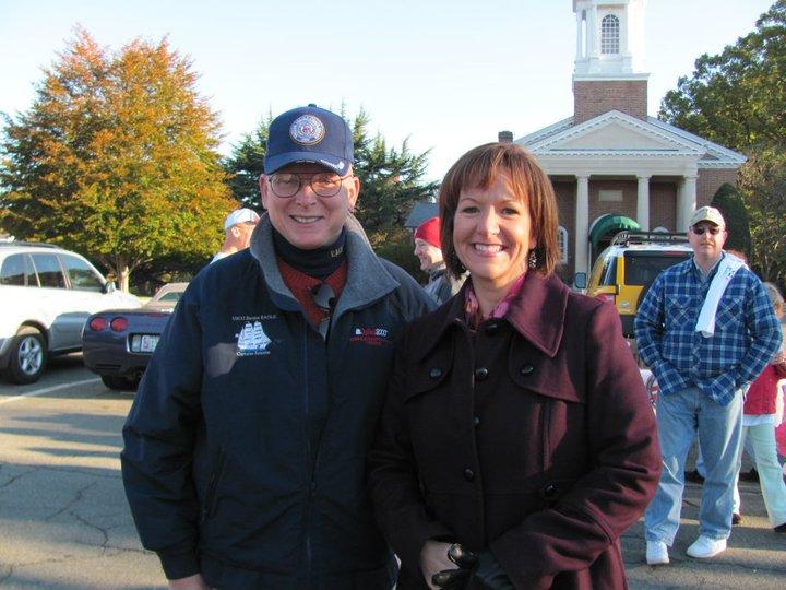 Commandant Papp & Senior Chief Theresa Padilla