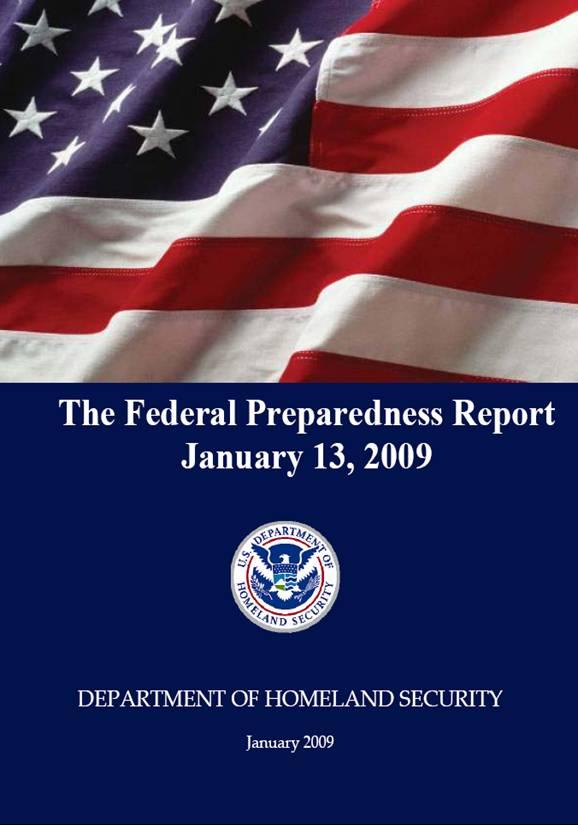 Federal Preparedness Report