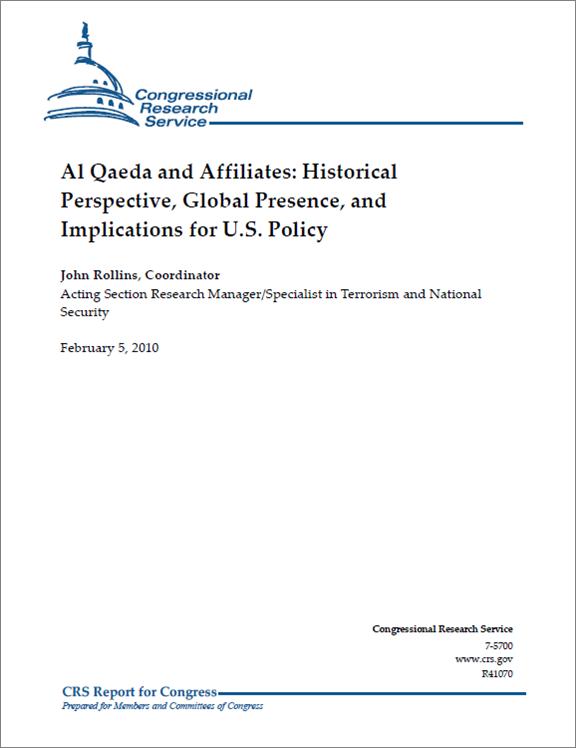 CRS Report on Al Qaeda