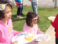 Children enjoy a nutritious meal during Feed Our Kids - Spring Break