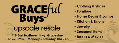 GRACEful  Buys has a new look and new location...418 W NW Hwy, Grapevine