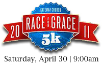 Gateway Church Race for GRACE April 30th at Gateway