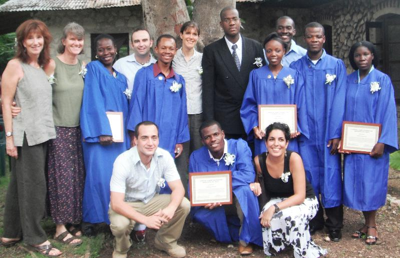 Graduates of the RTTP program in Haiti