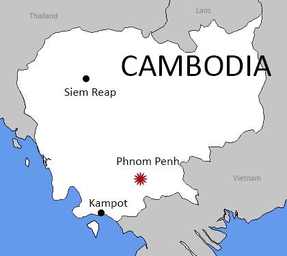Cambodia, Kampot, Siem Reap, Phnom Penh