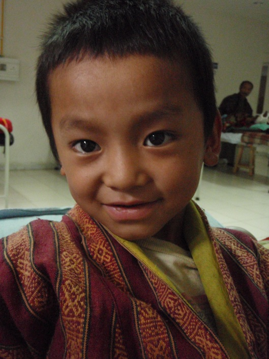 Child in Bhutan National Referral Hospital