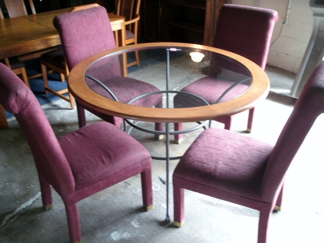 Wrought Iron Glass Table Bowflex Machine Dining Tables