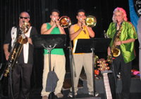 Lopez sons on trombone