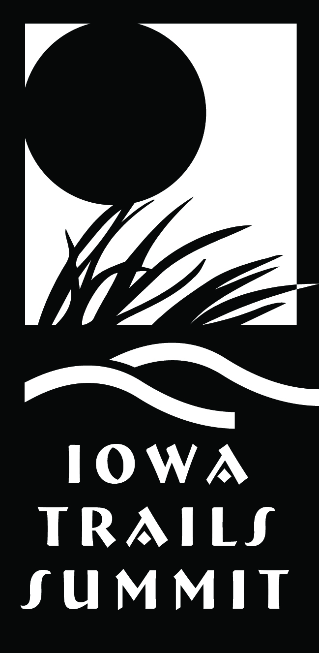 Iowa Trails Summit Logo B&W