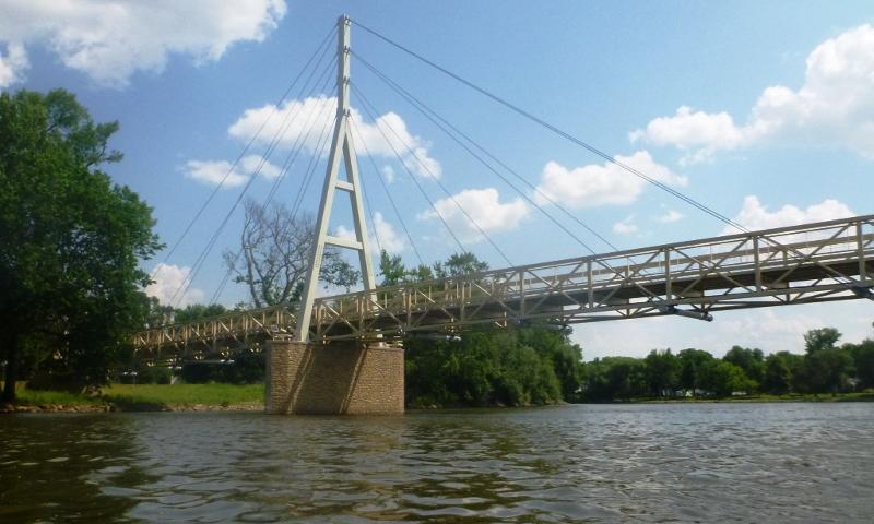 Charles City Ped Bridge End DHillman