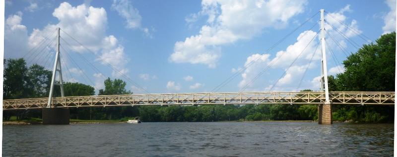 Charles City Ped Bridge Wide DHillman