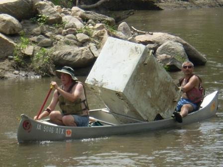River Cleanup Nick w Refrig