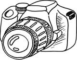 Camera Line Art Image