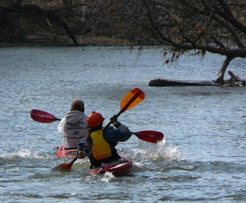 Paddle Across Delaware Maq Rvr Sam & Hannah Childs