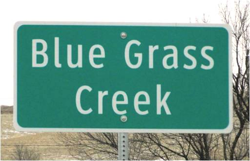 Blue Grass Creek Sign Pott County