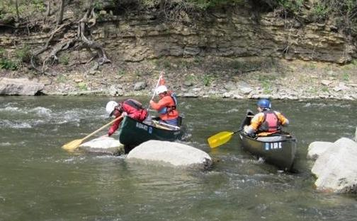 Canoe School Boone River by Todd Robertson